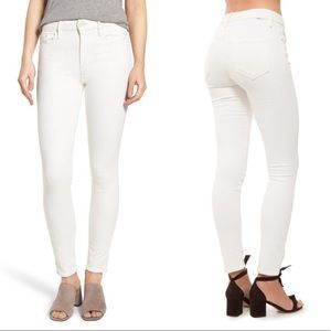 MOTHER NWT High Waisted Looker White Skinny Jeans